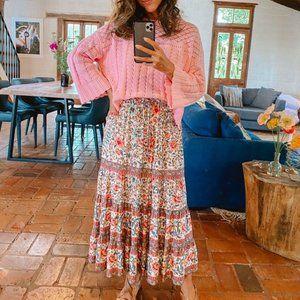 ARNHEM Juliette Pink Floral Midi Skirt RRP$179